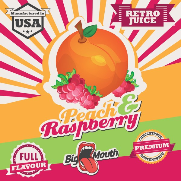 Retro Juice Peach and Raspberry by Big Mouth