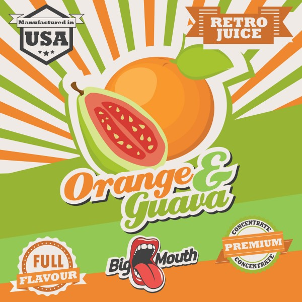 Retro Juice Orange and Guave by Big Mouth