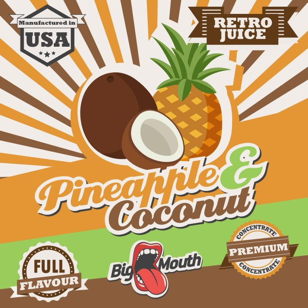 Retro Juice Pineapple & Coconut by Big Mouth