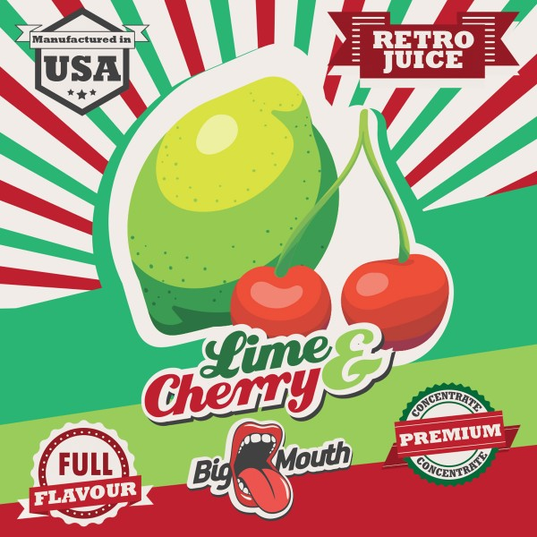 Retro Juice Lime and Cherry by Big Mouth