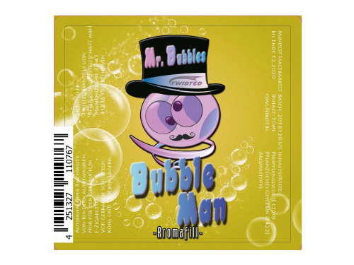 Bubble Man - Mr. Bubbles - Twisted - Liquid 50ml