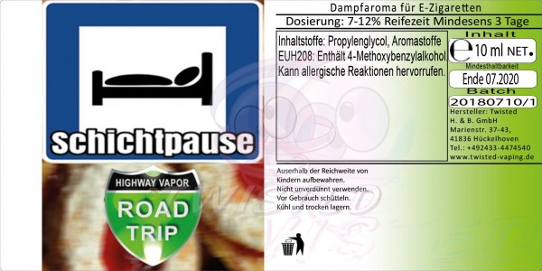 Road Trip - Schichtpause - Aroma Twisted 10ml
