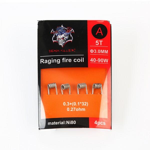 Demon Killer - Raging Fire Coil Ni80 - 4 Stück