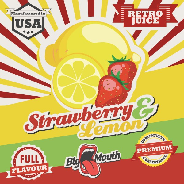 Retro Juice Strawberry and Lemon by Big Mouth