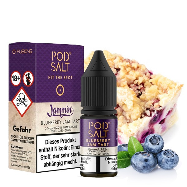 Pod Salt Liquid Blueberry Jam Tart Nikotinsalz 20mg/ml