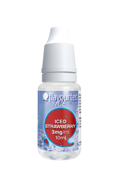 Iced Strawberry e-Liquid - 10ml - Flavourtec
