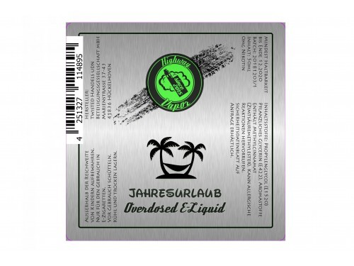 Jahresurlaub - Highway Vapor - Twisted - Liquid 50ml