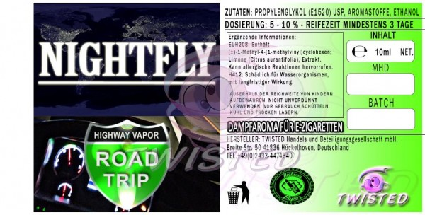 Road Trip - Nightfly - Aroma Twisted 10ml
