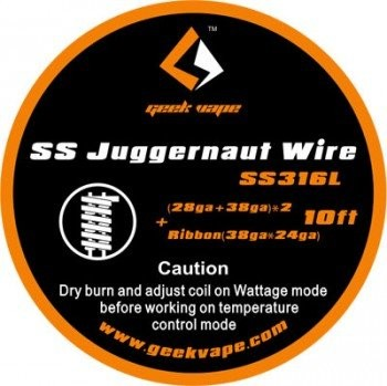 GeekVape - SS316L Juggernaut - Wickeldraht