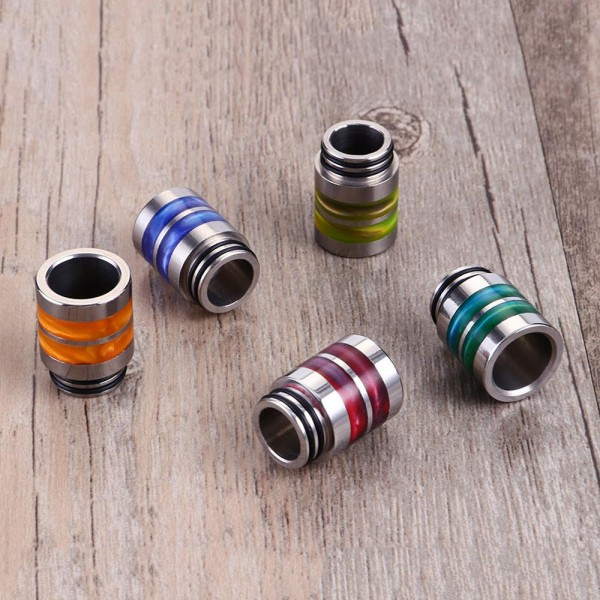Mundstück 810er - Stainless Steel Resin Ring - Drip Tip - 0271