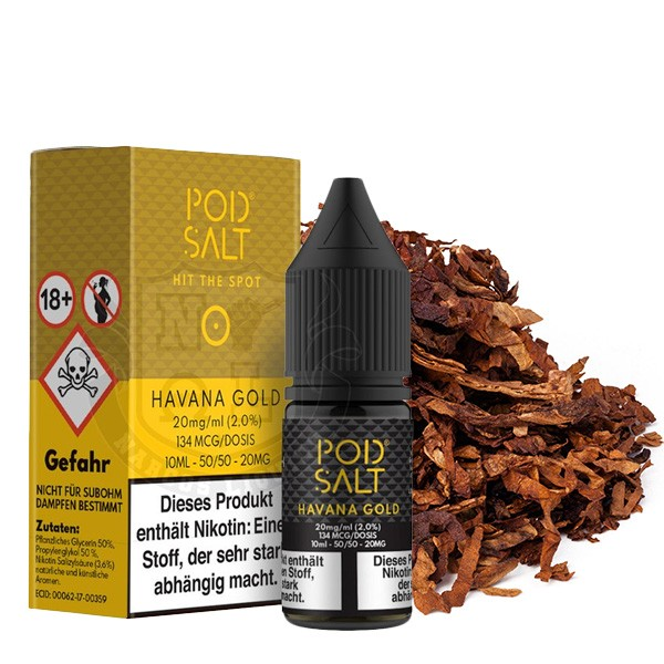 Pod Salt Liquid Havana Gold Nikotinsalz 20mg/ml