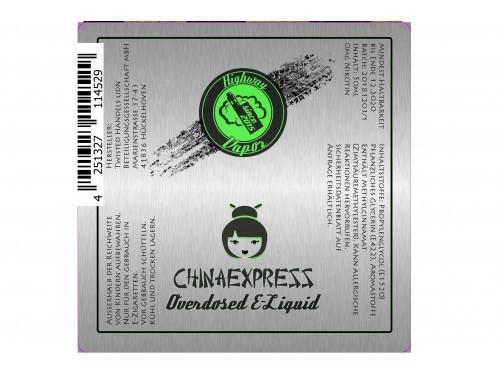 Chinaexpress - Highway Vapor - Twisted - Liquid 50ml