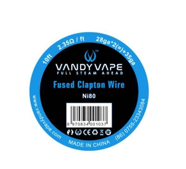 Vandy Vape - Ni80 Fused Clapton (28ga*2+35ga) - Wickeldraht