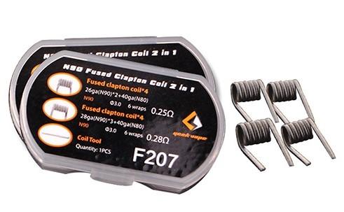 GeekVape - N90 Fused Clapton Coil 2 in 1 (8 Stück) F207