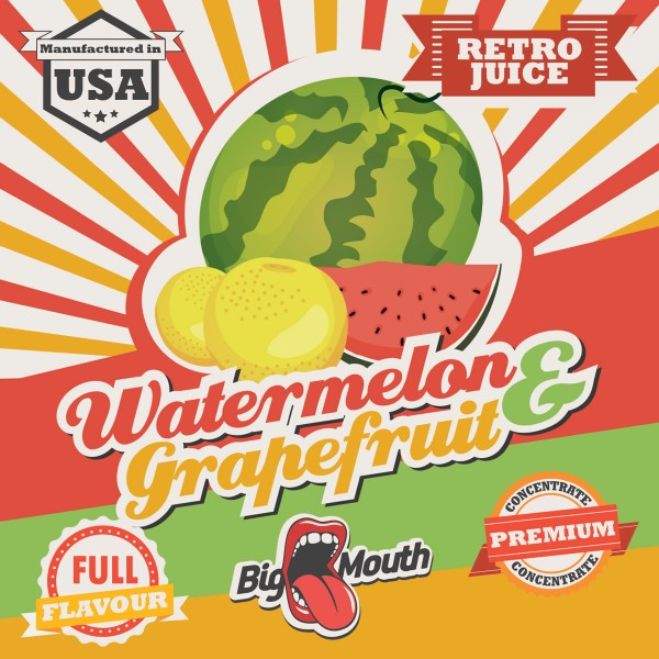 Retro Juice Watermelon and Grapefruit by Big Mouth